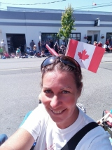 At the Canada Day Parade