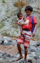 Aeta Mother and Baby