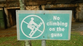 No Climbing on the Guns