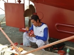 Painting the Bow Thruster Blades