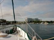 Approaching Sutera Harbour Marina