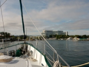 Approaching Sutera Harbour Marina