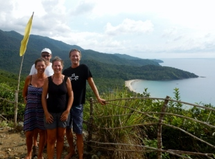 With Betty and Peter overlooking Nactabon Beach