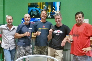 Aviation Guys Drinking Beer