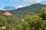 First Peek of Mount Kinabalu