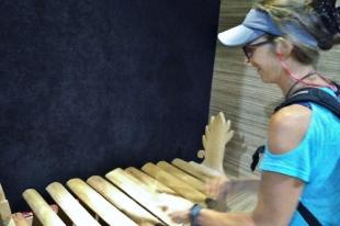 Kirsten on Wooden Xylophon