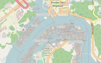 Kampong Ayer Map, Open Street Maps