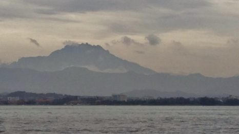 Last Look at Mount Kinabalu
