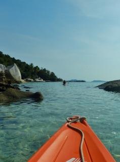 Kayaking at Pulau Mandariau