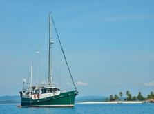 Moken Anchored at Pulau Mandariau