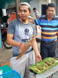Otak Otak Vendor, Grilled Fish Cakes